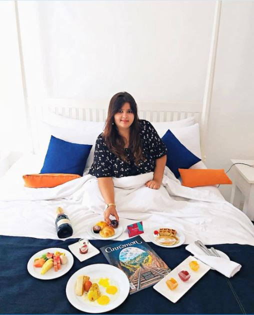 Breakfast in bed at Trinco Blu by Cinnamon.