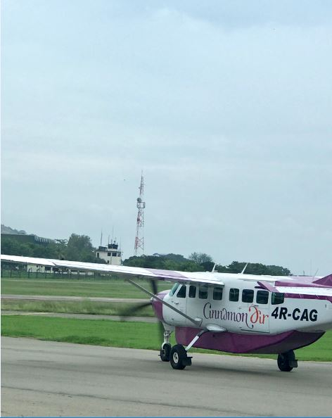 Cinnamon Air flight from Trincomalee to Colombo.