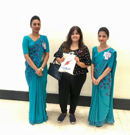 One with the lovely Sri Lankan airlines staff!