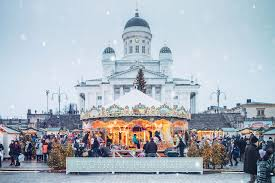 Christmas Markets in Helsinki, Finland.
