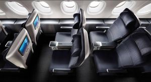 British Airways World Traveler Plus Cabin.