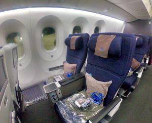 Ultra Comfortable Seats in British Airways World Traveler Plus.