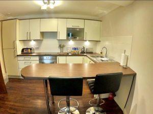 Modern kitchen at The Knight Residence, Edinburgh.