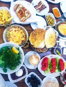 Breakfast at Emirgan Sütiş Istanbul.