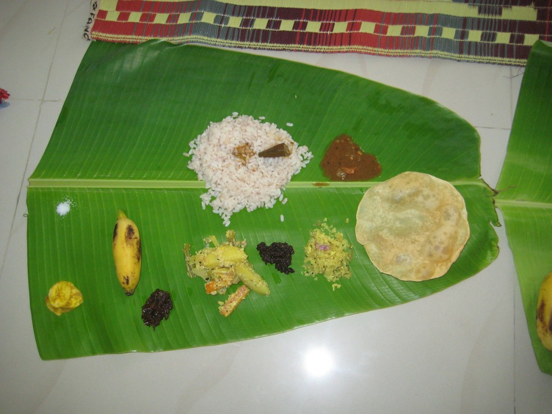 A small part of the Onam Sadhya.