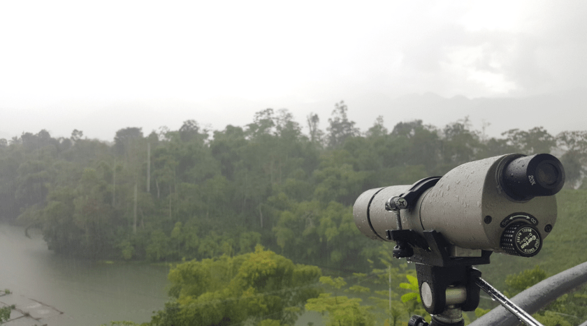 A Rainy view of Lake Sebu