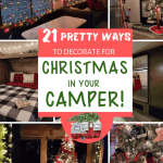 21 Pretty Christmas Camper Decor Ideas For All Sizes Of Campers The Crazy Outdoor Mama