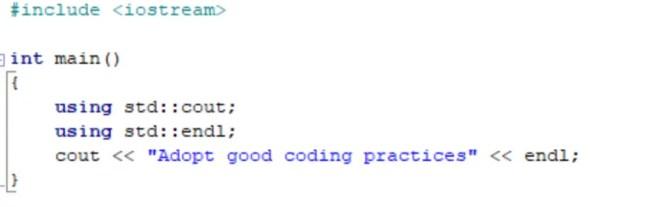 namespace std 2