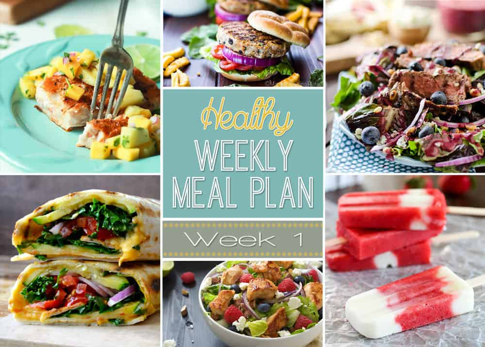 Healthy Meal Plan Week 1