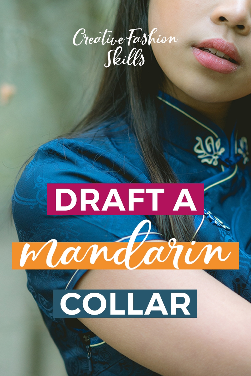 Want to learn how to draft a mandarin collar? A Mandarin collar is a simple collar to pattern draft and an easy collar to sew too! You can add this collar to shirts, jackets, dresses. Any DIY clothes that you want to jazz up. This patternmaking tutorial will teach you how to draft a Mandarin collar! #patternmaking #collars #mandarincollar #collarpattern #DIYclothes #learnpatterndrafting