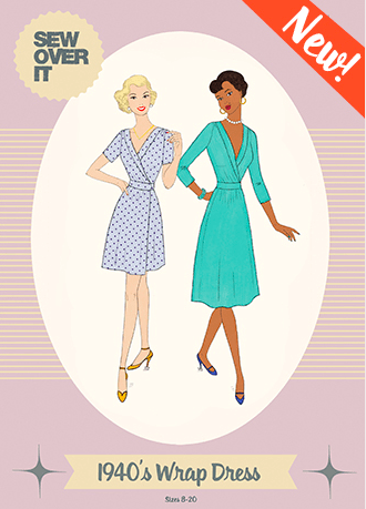 1940s Wrap Dress Sew Over It The Creative Curator