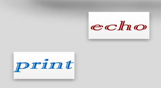 echo and print in PHP