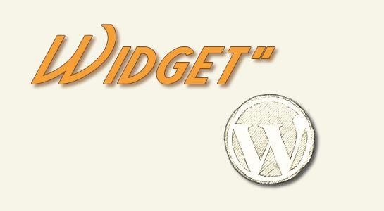 Create Widget in Wordpress