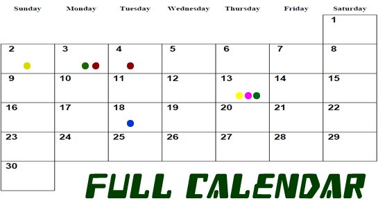 How to add ColorDots in FullCalender?