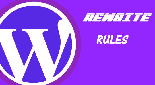 To add new URL rewrite rule in Wordpress