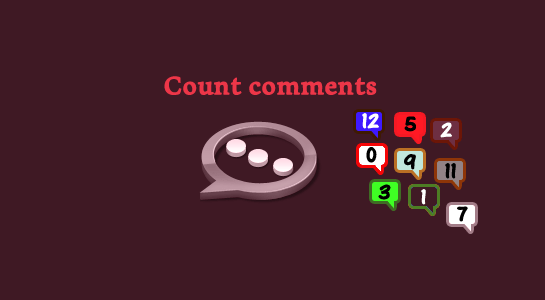 Get number of comments of a post