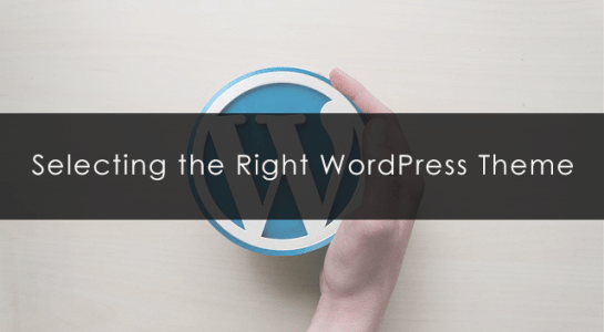selecting-the-right-wordpress-theme