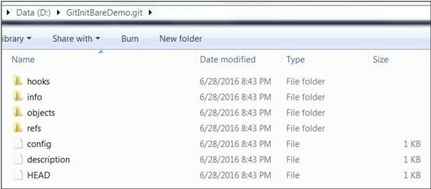 Git Init D directory