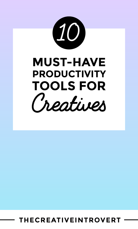 10 Must-Have Productivity Tools For Creatives - these were a total game changer in my business! Click to read or PIN for later!
