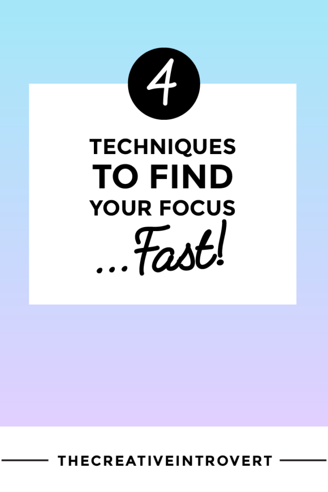 These 4 techniques help me when I'm feeling overwhelmed with ALL THE THINGS. Get your focus back and get sh*t done >>