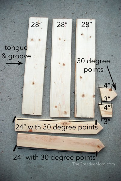 holiday sign measurements