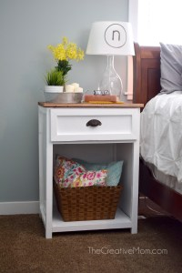 Farmhouse Nightstand- Free Building Plans!