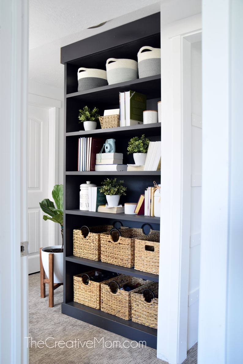 How To Trim Out A Built In Bookcase The Creative Mom