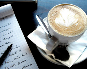 writing coffee