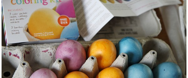 Spring Holidays: Naturally Dyed Easter Eggs and the BEST Chocolate Peanut Butter Egg Treats