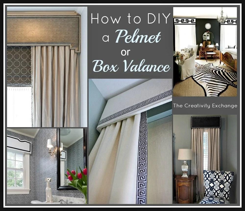 how to diy a pelmet or box valance