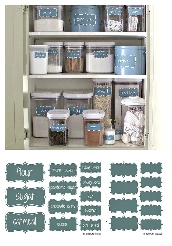 Superior Organize A Baking Cabinet With Free Printable Pantry Labels