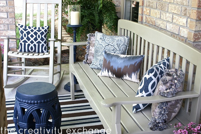 Front porch transformed with spray paint {the creativity exchange}