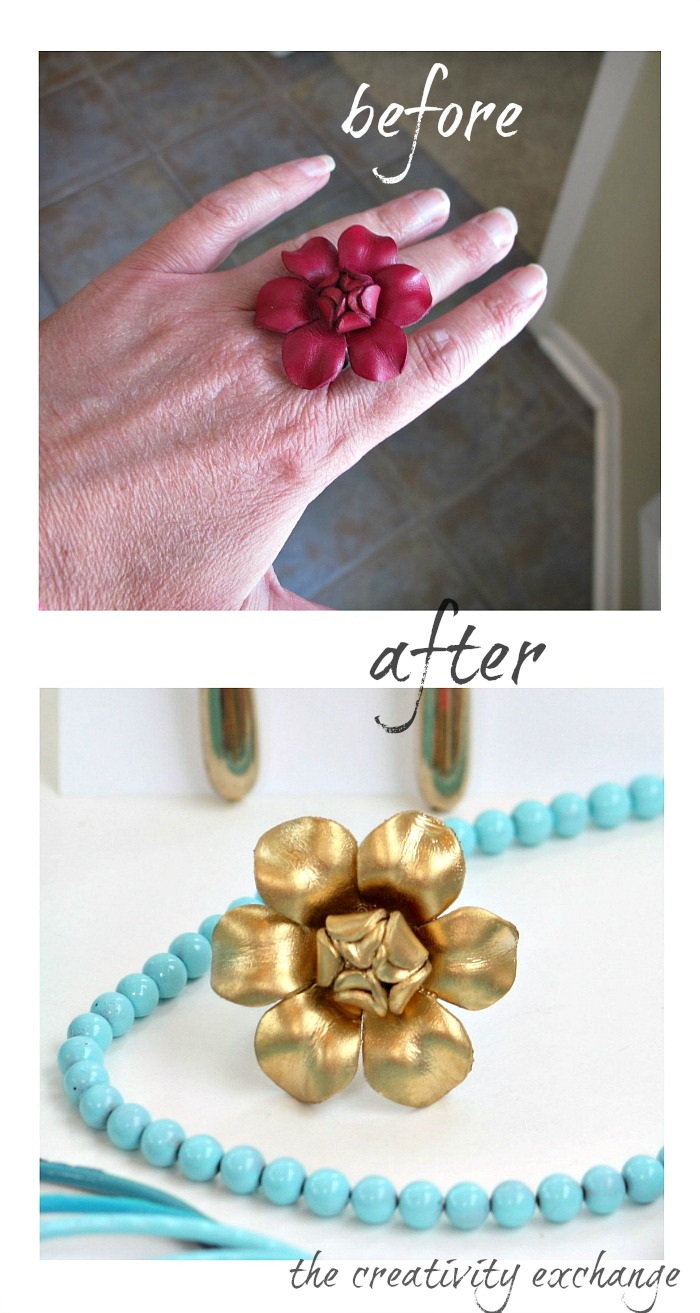 Transform Old Junk Jewelry With Enamel Spray Paint
