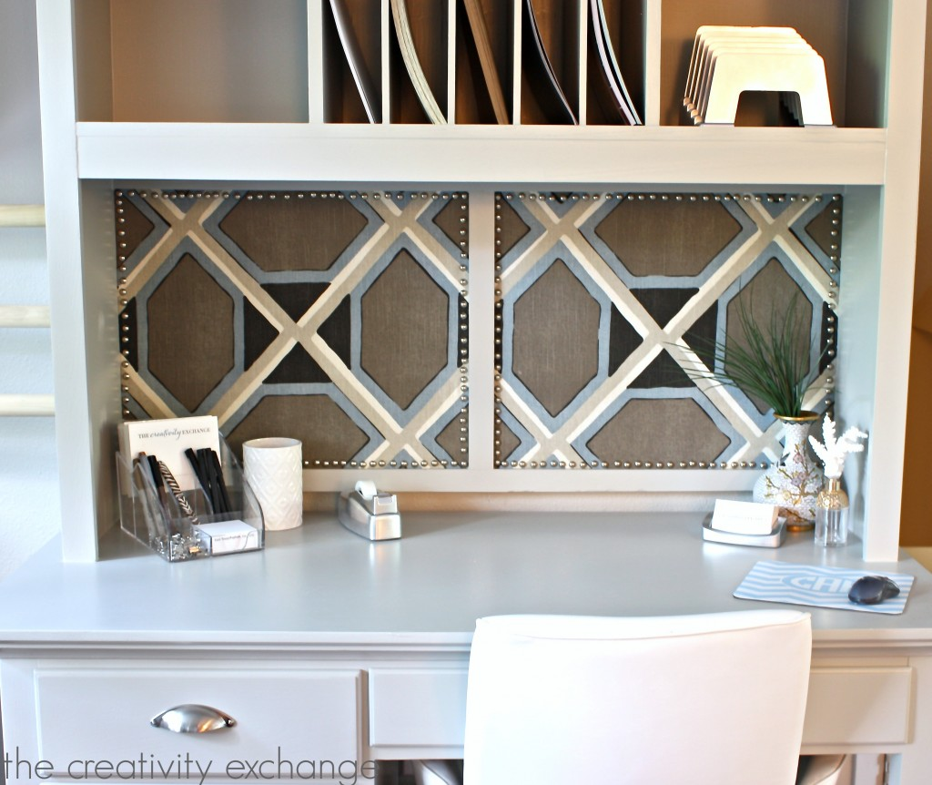 Desk Revamp A Chic Bulletin Board Project And An Office