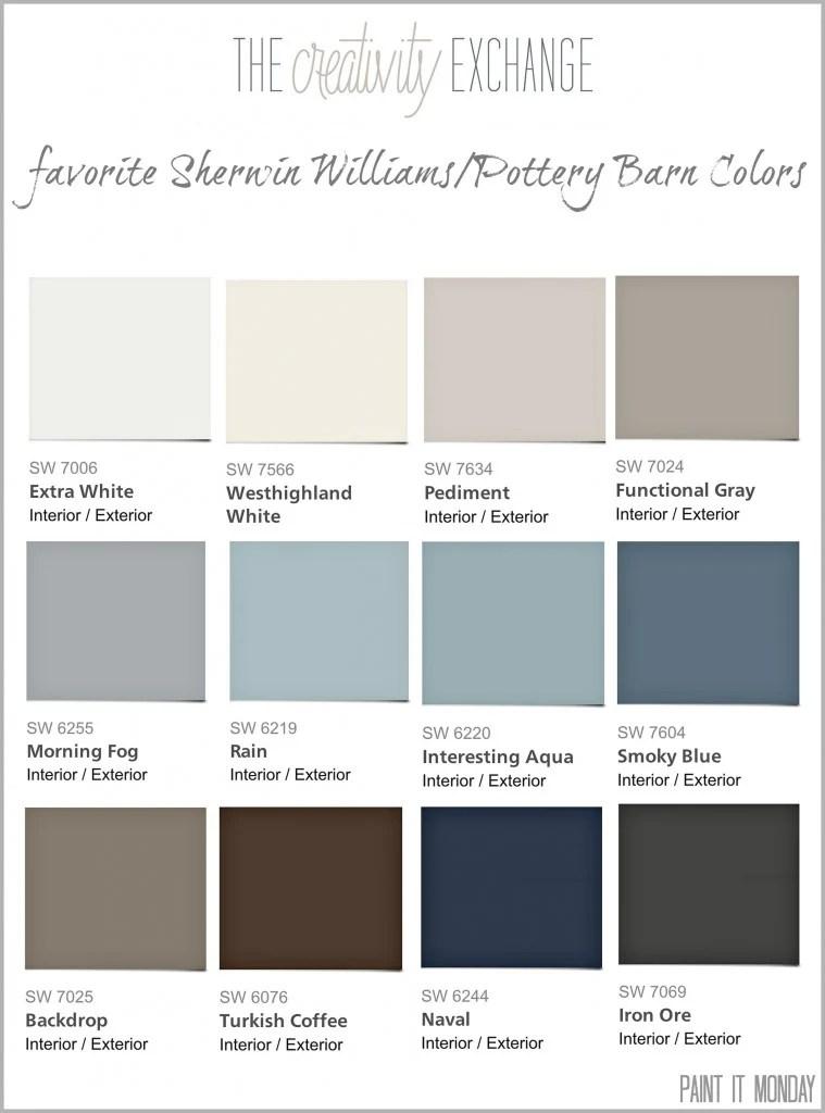 Favorite Pottery Barn Paint Colors 2014 Collection {Paint It Monday}