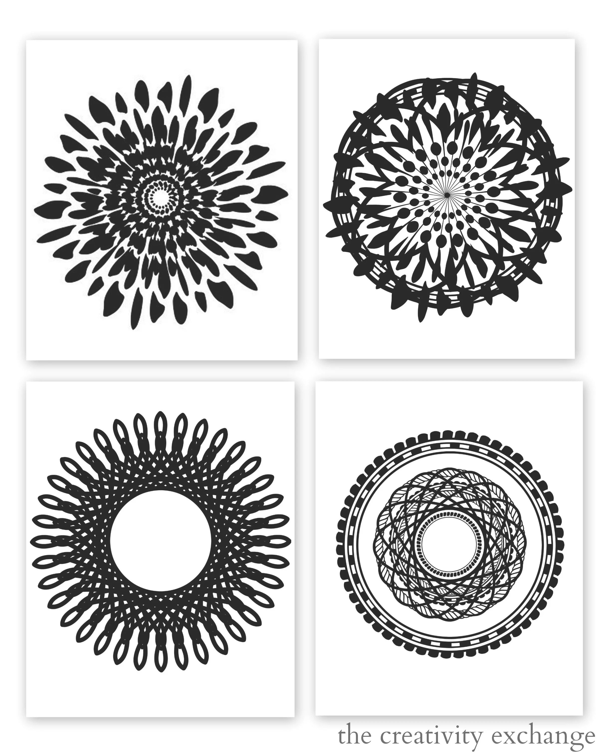 Free Printable Collection Of Modern Black And White Prints