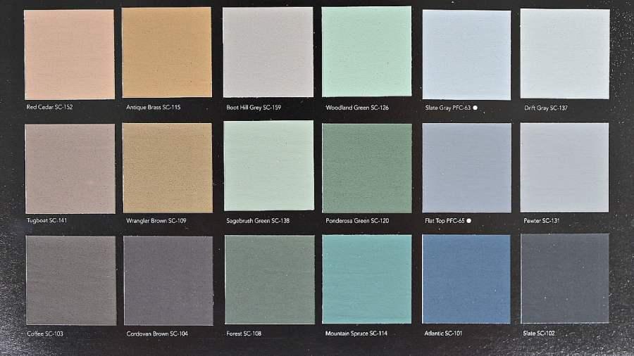 Behr DeckOver Paint Color Choices. Sheet 3