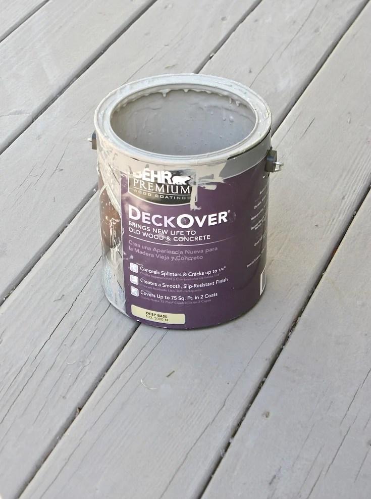 Behr DeckOver deck paint. Best paint for decks.