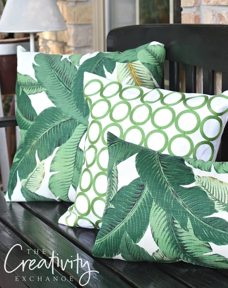 Tommy Bahama Palm Pillows. The Creativity Exchange