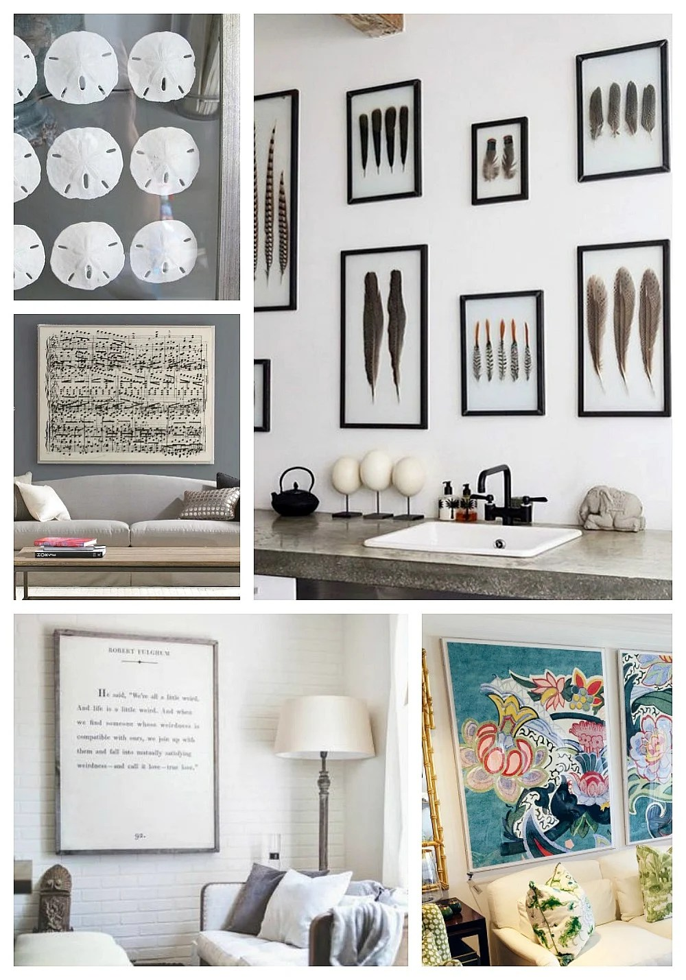 Creative Wall Décor Ideas and Unique Items to Frame on Creative Wall Art Ideas  id=20185