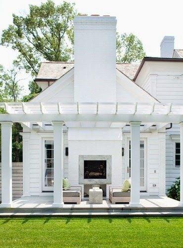 Creative Pergola Designs and DIY Options on White Patio Ideas id=46447