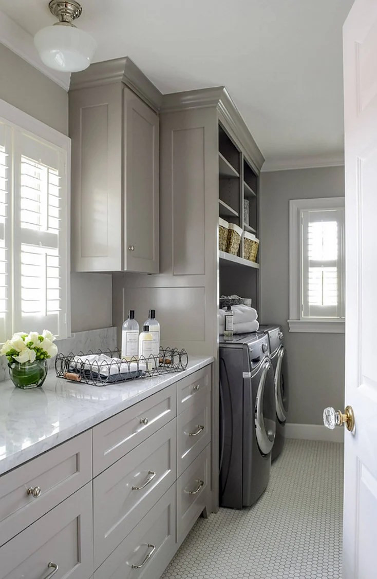 Creative and Inspiring Laundry Rooms on Laundry Cabinets Ideas  id=66586