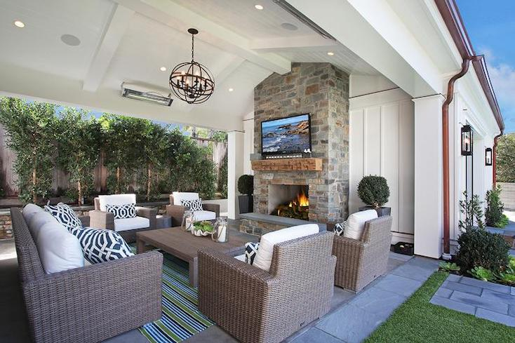 creative outdoor fireplace designs and