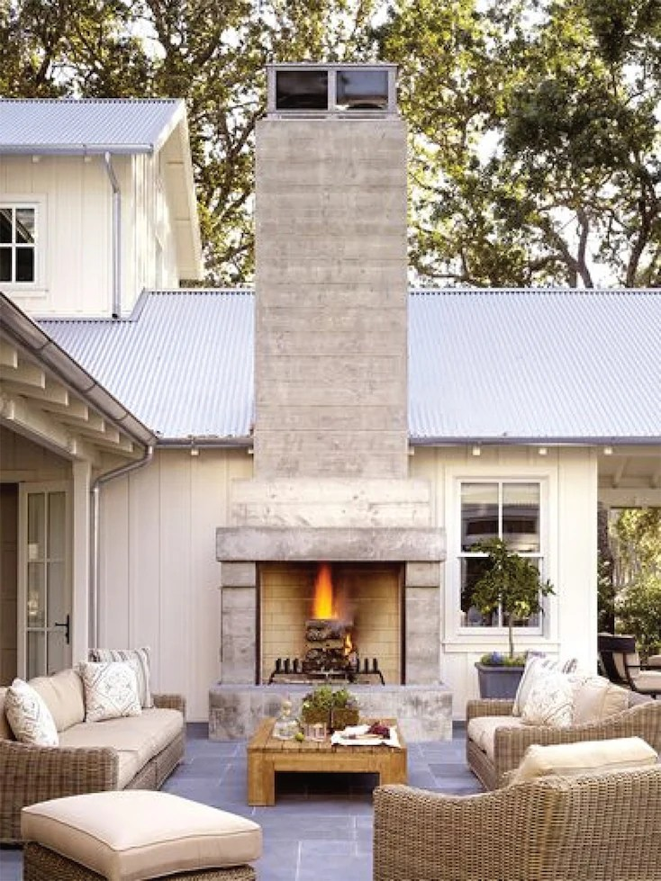 Creative Outdoor Fireplace Designs and Ideas on Small Outdoor Fireplace Ideas id=83897