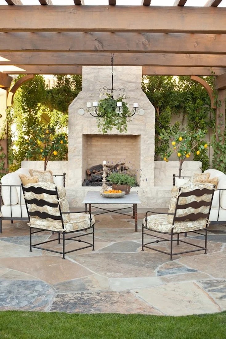 Creative Outdoor Fireplace Designs and Ideas on Small Outdoor Fireplace Ideas id=85689