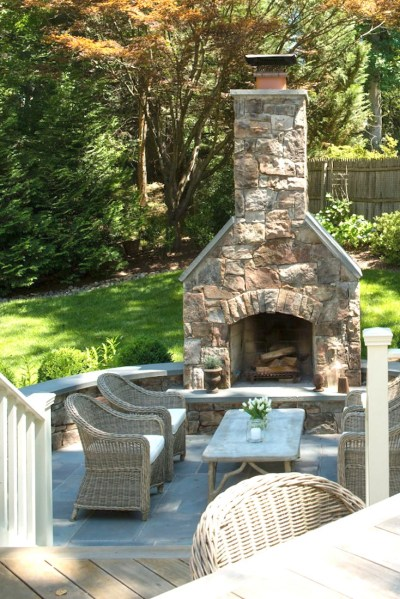outdoor patio fireplace Creative Outdoor Fireplace Designs and Ideas