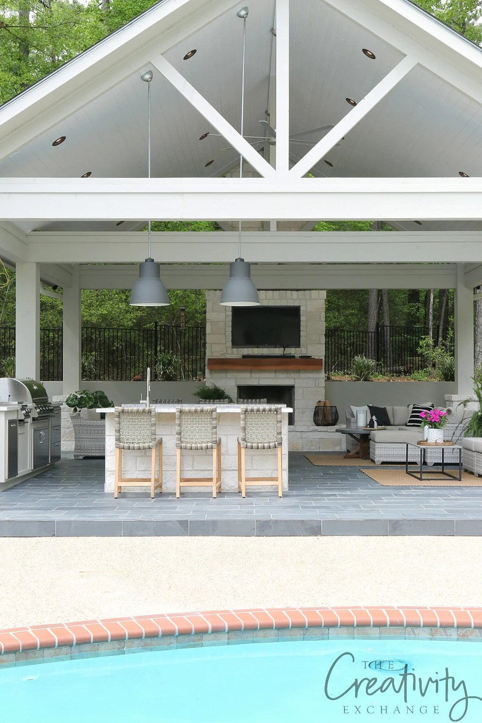 Outdoor Kitchen and Pool House Project Reveal on Outdoor Kitchen By Pool id=63979
