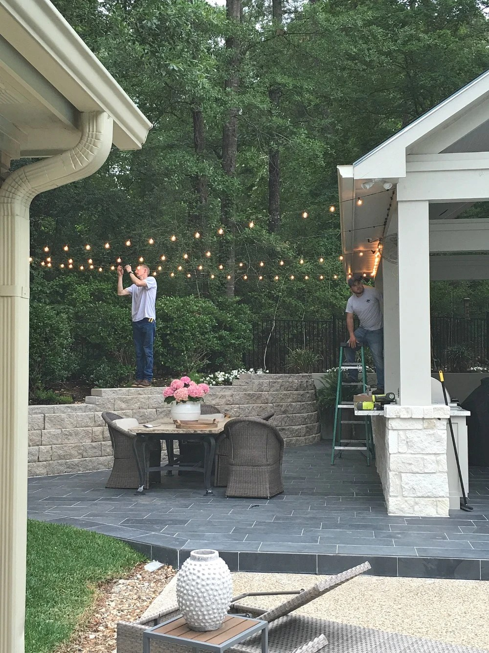 Backyard String Lighting
