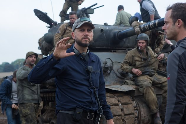 Director David Ayer on the set of Columbia Pictures' FURY.