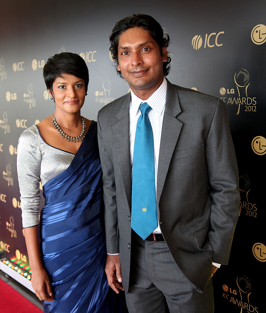 Schoolboy Sangakkara is said to have displayed his trademark eloquence while wooing the girl who would eventually become his wife